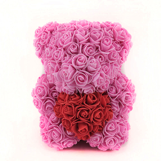 25 CM Sitting Bear with Heart