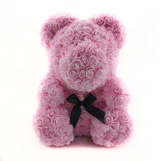 40 CM Sitting Rose Bear